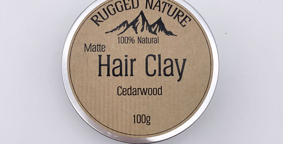 Cedarwood Hair Clay 100g - Rugged Nature