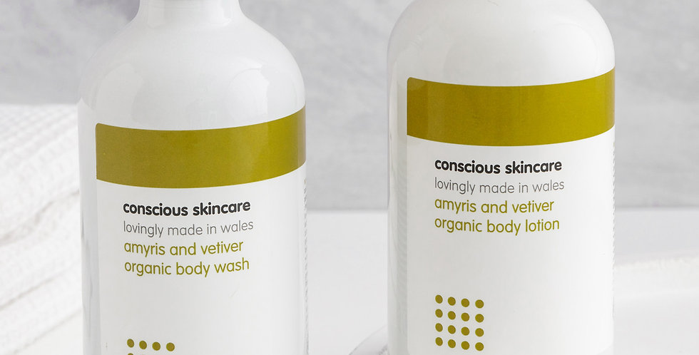 Amyris & Vetiver Body Wash 235ml - Conscious Skincare