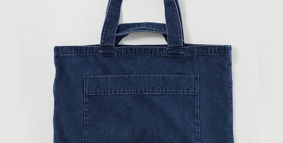 BAGGU Giant Pocket Tote Bag - Dark Denim