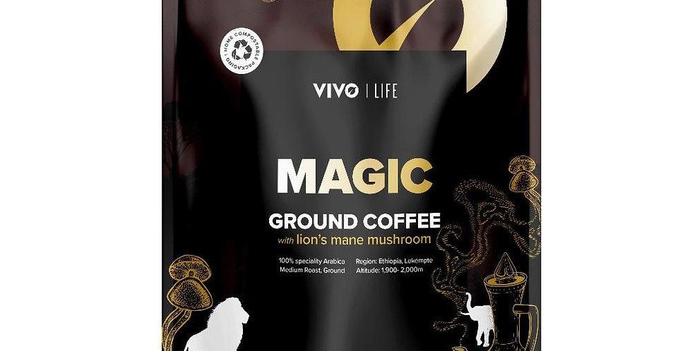 Vegan MAGIC Ground Coffee with Lion's Mane 280g - Vivo Life