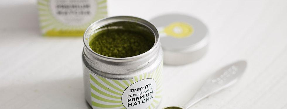 Premium Matcha Green Tea Tin 30g - Teapigs
