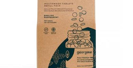Mouthwash Tablets English Peppermint x720 Tablets - Georganics