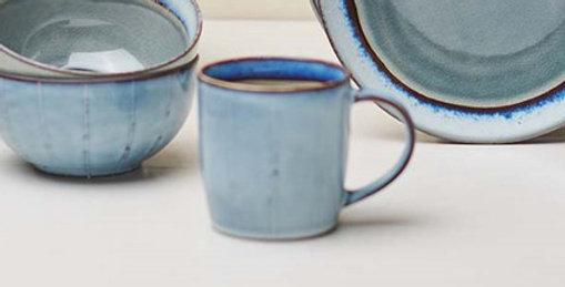 Bao Ceramic Coffee Mug Grey - Nkuku