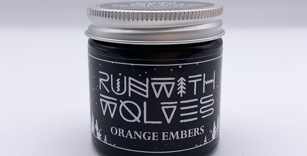 MINI Orange Embers Soy Wax Candle - Run With Wolves