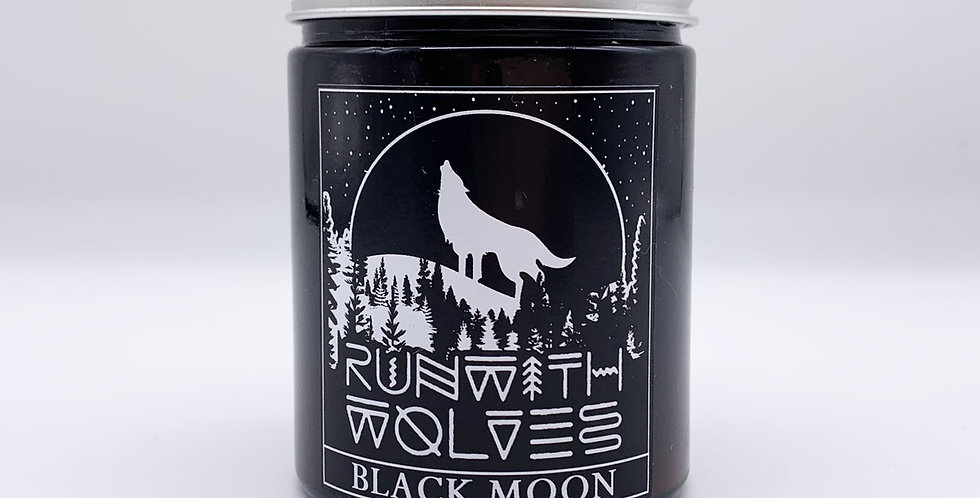 Black Moon Soy Wax Candle 180ml - Run With Wolves