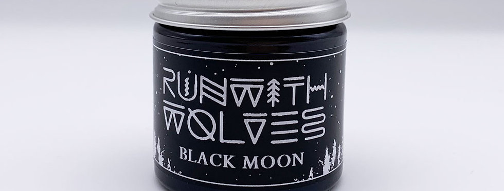 MINI Black Moon Soy Wax Candle - Run With Wolves