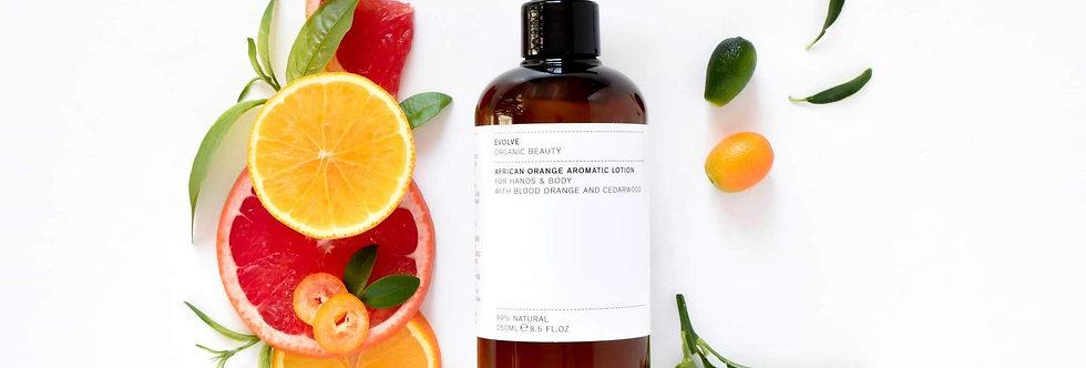 African Orange Aromatic Hand & Body Lotion 250ml - Evolve Beauty