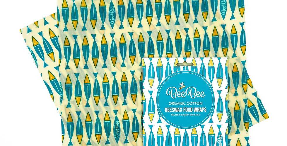 BeeBeeWraps x2 Sandwich Pack - Sardines