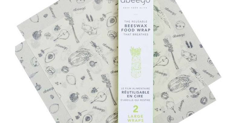 Abeego Beeswax Wraps Large x2