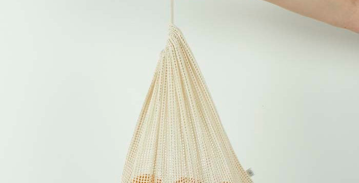 Organic Cotton Mesh Produce Bag Large - A Slice of Green