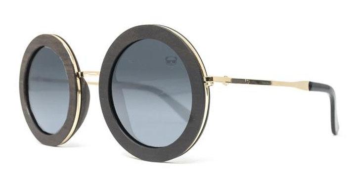 Chic Round Polarised Wooden Sunglasses - Fresh For Pandas