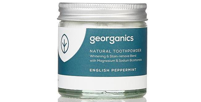 English Peppermint Toothpowder 60ml - Georganics