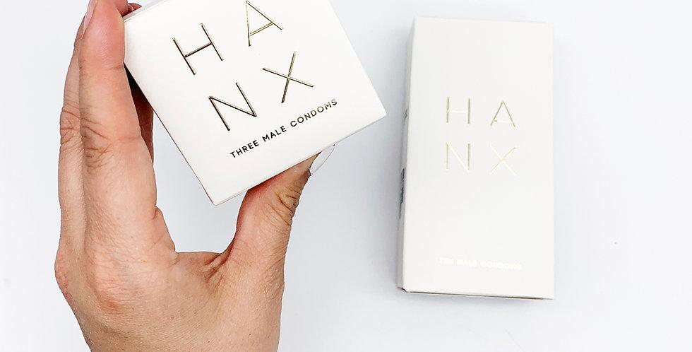 HANX Vegan Condoms - x3 Pack