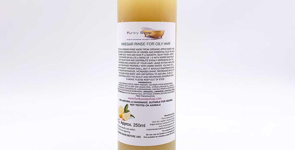 Vinegar Rinse for Oily Hair 250ml - Funky Soap