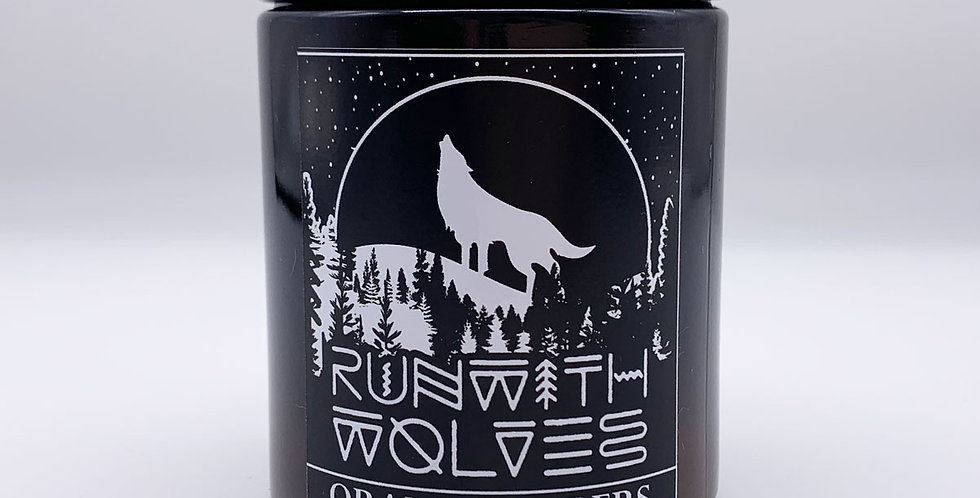 Orange Embers Soy Wax Candle 180ml - Run With Wolves