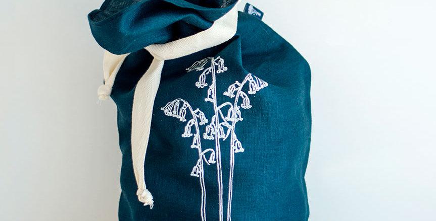 Pure Linen Bread Bag Bluebell - Helen Round