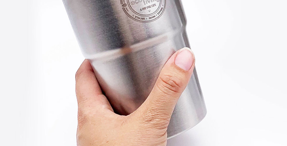 British Stainless Steel Single UK Pint Cup - Eco Living