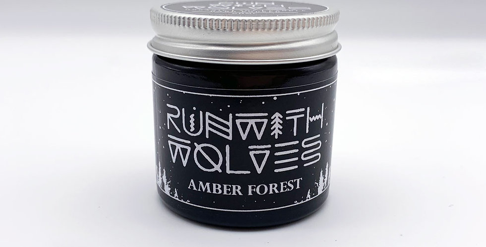 MINI Amber Forest Soy Wax Candle - Run With Wolves