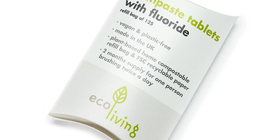 Toothpaste Tablets With Fluoride x125 Refill - Eco Living