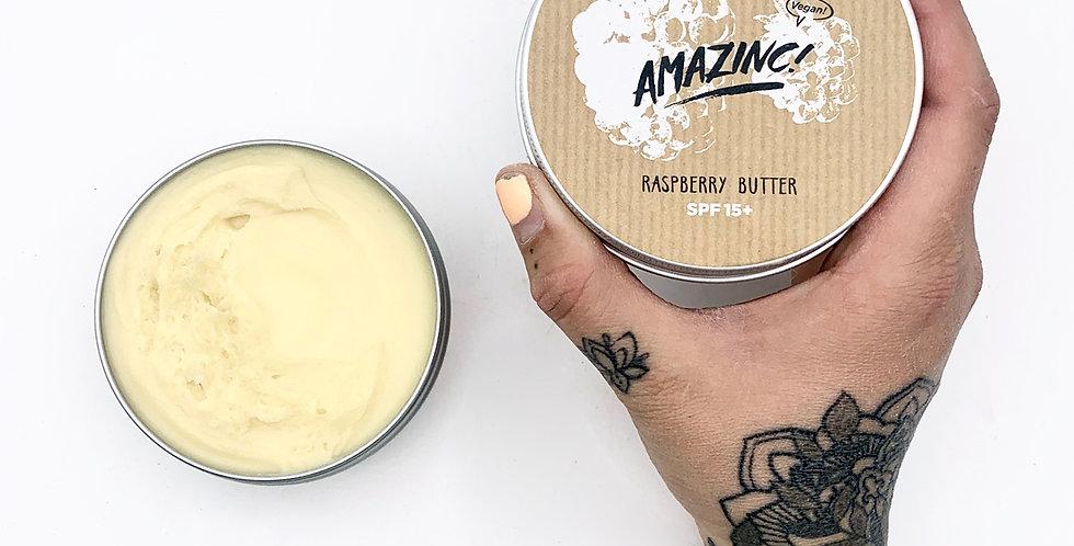DAMAGED VEGAN SPF15 Raspberry Butter 150g - Amazinc