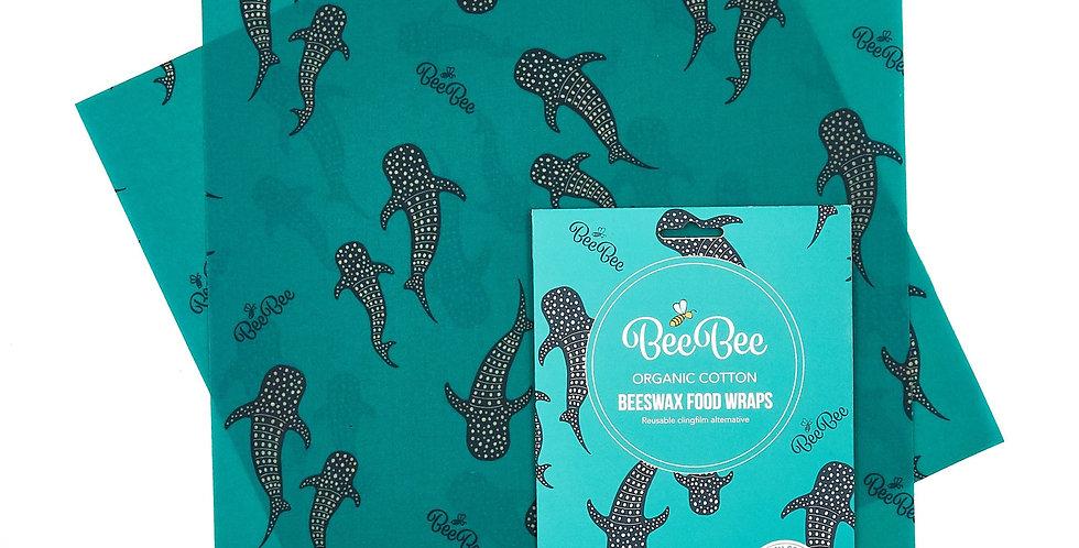 BeeBeeWraps x2 Sandwich Pack - Sharks