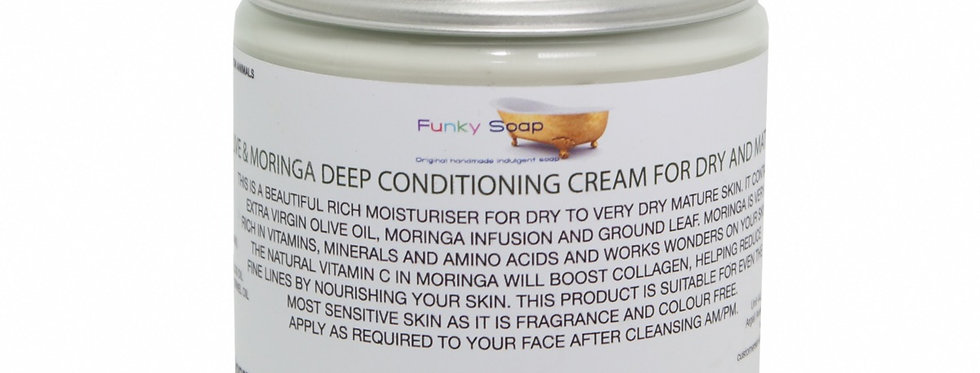 Sweet Moringa Cream for All Skin Types 250g - Funky Soap