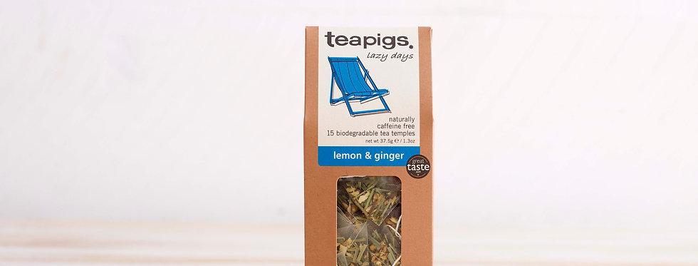 Lemon and Ginger Tea x15 Tea Temples - Teapigs