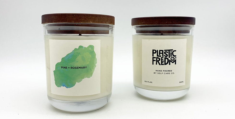 Plastic Freedom x Self Care Co Candle - Pine + Rosemary