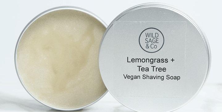 Lemongrass + Tea Tree Shaving Soap - Wild Sage + Co
