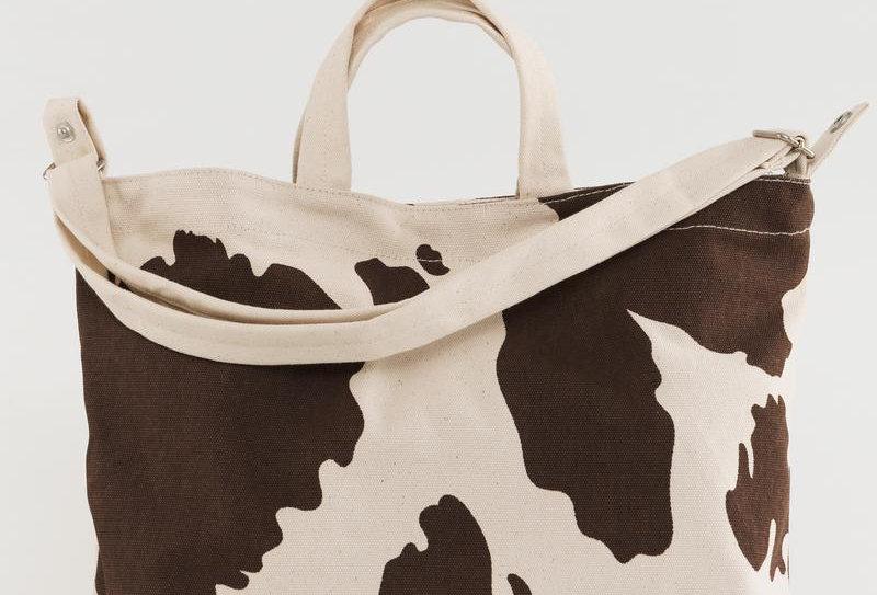 BAGGU Horizontal Duck Bag - Brown Cow