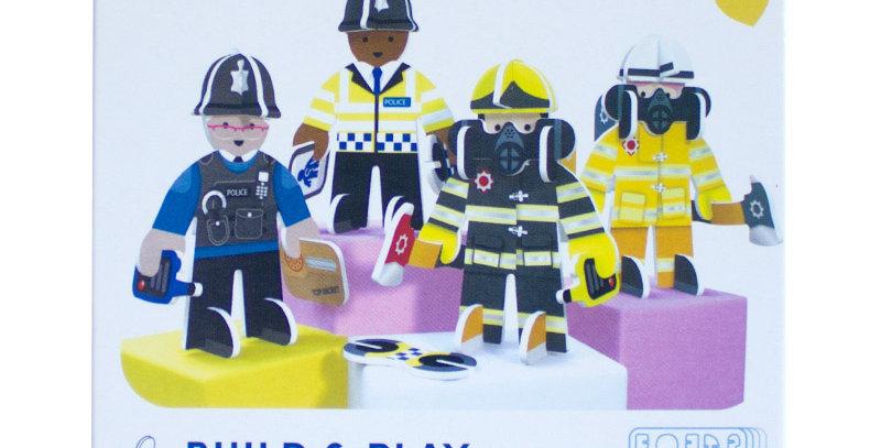 Rescue Team Build & Play Set - Play Press Toys