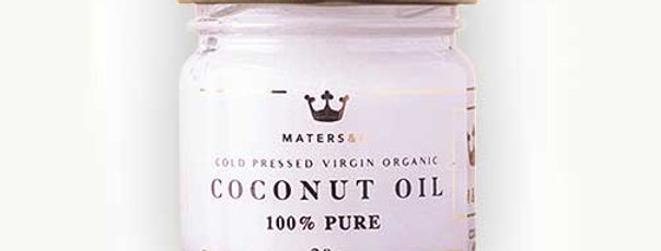 Cold Pressed Virgin Organic Coconut Oil 30g - Maters & Co