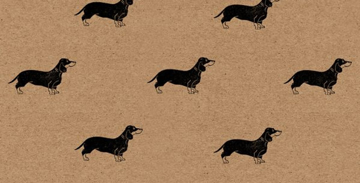 Wrapping Paper Sausage Dog x1 Sheet- Wrapped By Alice