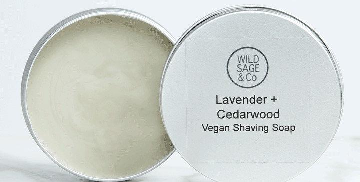 Lavender & Cedarwood Shaving Soap - Wild Sage + Co