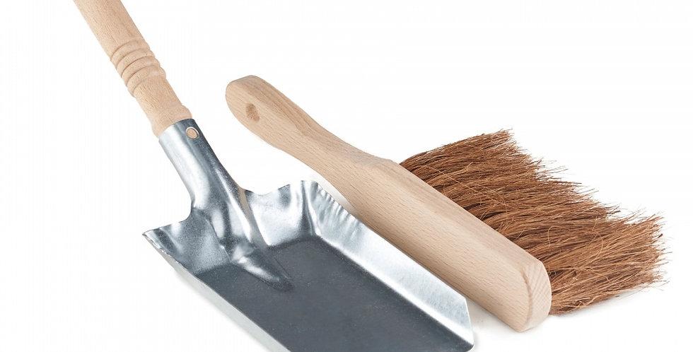 Dust Pan & Brush Silver - Eco Living