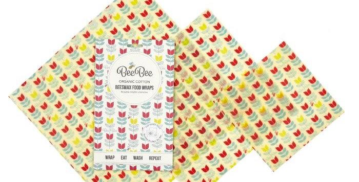 BeeBeeWraps x3 Mixed Pack - Tulip