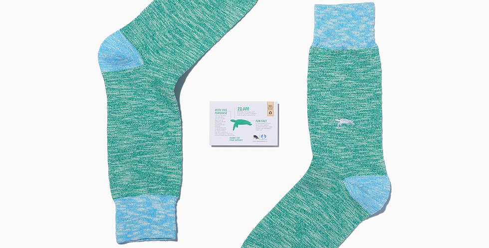 Hawksbill Turtle Socks - Critically Endangered Socks
