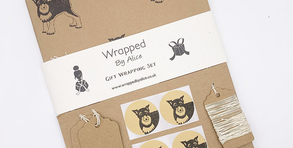Schnauzer Wrapping Set - Wrapped by Alice