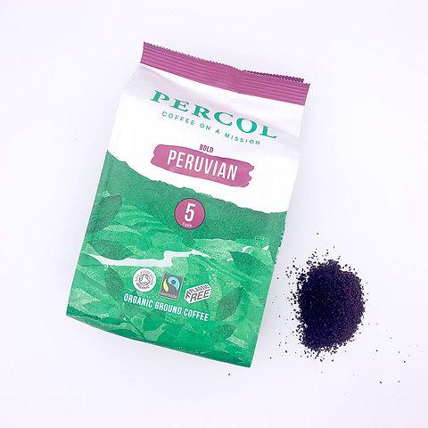 Percol Peruvian 5 Ground Coffee 200g Plastic Free