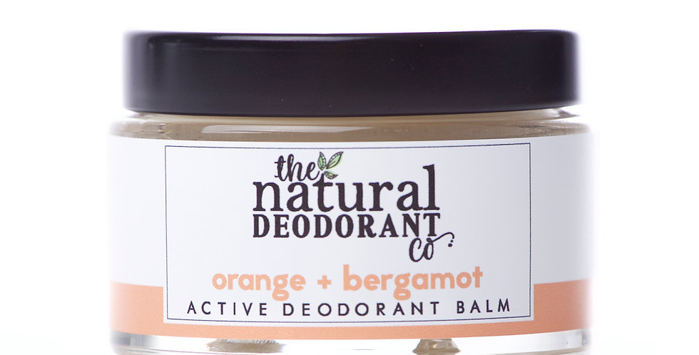 Active Deodorant Balm Orange + Bergamot 55g - The Natural Deodorant Co