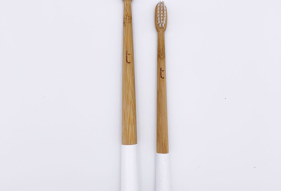 Family Pack Bamboo Toothbrushes x2 White - Truthbrush