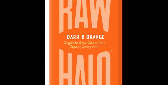 Raw Halo Dark & Orange Vegan Chocolate - 35g