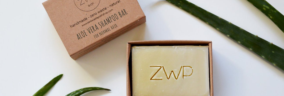 Aloe Vera Shampoo Bar 100g - Zero Waste Path