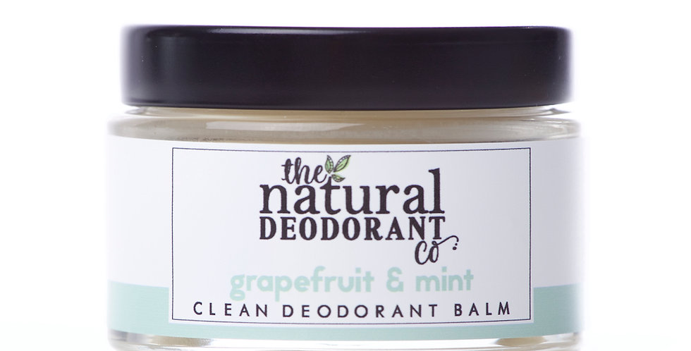 Clean Deodorant Balm Grapefruit + Mint 55g - The Natural Deodorant Co