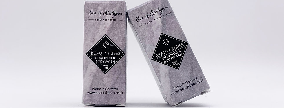 Beauty Kubes Hair & Body Wash for Men x3 Sample Pack  - Eve of St Agnes