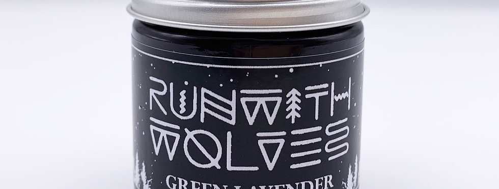 MINI Green Lavender Soy Wax Candle - Run With Wolves