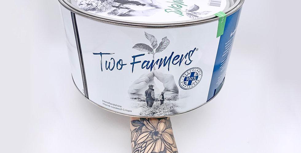 Two Farmers Crisps Salt & Vinegar 500g Tin