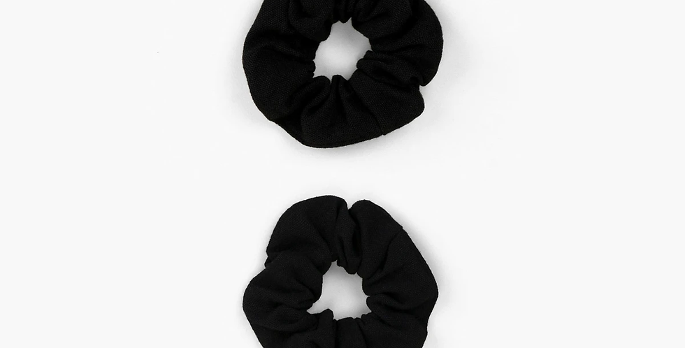 Recycled Black Scrunchies x2 - A Good Company