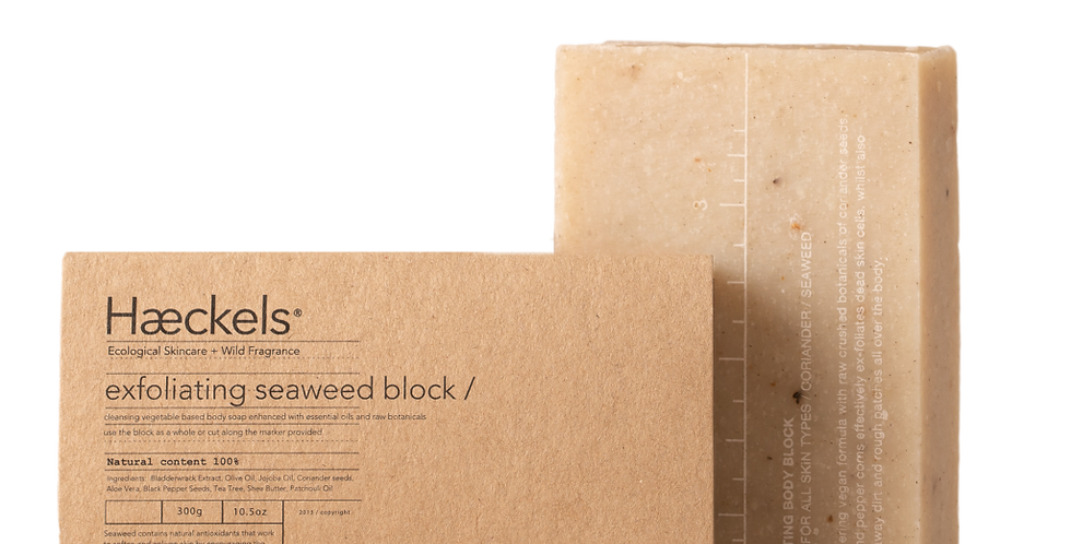 Haeckels Large Exfoliating Vegan Seaweed Block 320g