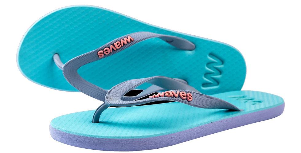 Plastic Free Flip Flops Women's Blue - Waves UK